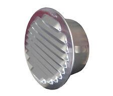 Bocchetta per ventilazione tonda in alluminio da incasso d.mm.80  griglia aria