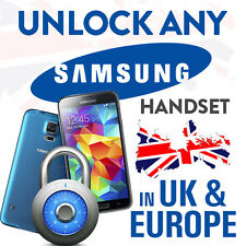 UNLOCK CODE FOR SAMSUNG GALAXY S6 S7 S7 EDGE S5 S4 S3 S2 LOCKED ANY UK NETWORK