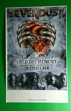 SEVENDUST COLD DAY MEMORY RIBS MECHANICAL HEART BAND 11x17 MUSIC PROMO POSTER