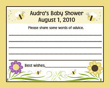 24 Personalized Baby Shower Advice Cards - Mommy To BEE - Bee Baby Shower