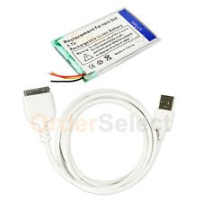 Battery+USB Data Sync Charger Cable for Apple iPod Nano 2nd Gen 2G 2GB 4GB 8GB