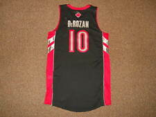 DeMar DeRozan Toronto Raptors Black Adidas Rev 30 Authentic Jersey L +2 New MESH