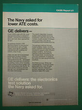 10/1986 PUB GENERAL ELECTRIC CASS 1 NAVY LOWER ATE COSTS AUTOMATED TESTING AD