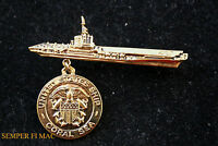 USS CORAL SEA CV CVB CVA-43 HAT BROACH PIN MADE IN US NAVY MARINES CARRIER WING