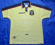 SCOTLAND away shirt jersey UMBRO World Cup 1998 FRANCE Yellow/ adult SIZE XL