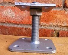 Portapilastro regolabile per travi 120x120 staffa supporto zincato per legno