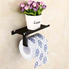Chrome Polished Paper Holder Roll Shelf Toilet Tissue Stainless Steel Bathroom