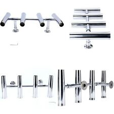 4 Tube Adjustable Stainless Rocket Launcher Rod Holders, Can be Rotated 360 Deg