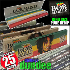 25 BOB MARLEY King Size Pure Hemp Rolling papers NEW