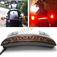 Motorcycle Fender Rear Brake LED Tail Light For Harley Dyna Street Bob 2013-2016
