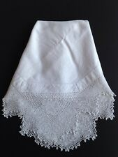 Vintage Tablecloth With Deep Crochet Edging