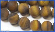 8mm Tiger Eye Frosted Matte Round Beads (10) Unique Bead Finish! Gorgeous!