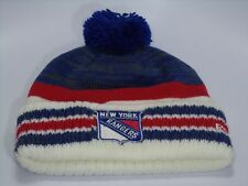 New York Rangers Reebok NHL Primary Colors Knit Cuffed Toque W/ Pom Hat Cap