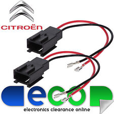 Citroen Berlingo 08-14 Front Door Car Speaker Adaptor Plug Lead Cable Connectors