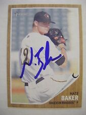 NATE BAKER signed PIRATES 2011 Topps Heritage Minors baseball card AUTO OLE MISS