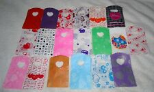 JOB LOT 50 HEART PATTERNED SMALL PLASTIC GIFT JEWELLERY PARTY BAGS 15x9