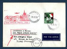 TRIESTE A - Raid Artico Lualdi (1953) su aer. affr. con 4° Fiera di Trieste - MR