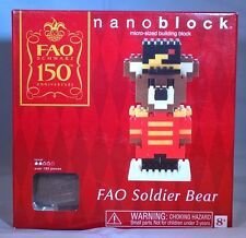FAO Schwarz 150th Anniversary Nanoblock FAO Soldier Bear [Designed by Kawada]