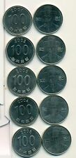 5 DIFFERENT 100 WON COINS from SOUTH KOREA (2001-2005)