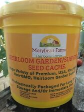 150 Heirloom Varieties! Non-GMO GARDEN/SURVIVAL SEED CACHE WITH $15 HERB PACK