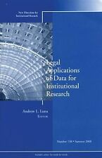 Legal Applications of Data for Institutional Research: New Directions for Instit