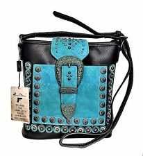 Montana West Concealed Carry Purse Crossbody Messenger Bag American Bling Black
