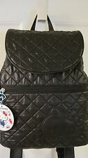 NWT Sanrio Hello Kitty Small Backpack Solid Black Quilted Bag Purse