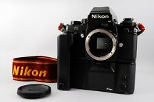 Excellent+++ Nikon F3 HP Camera with Motor Drive MD-4 + MF-14 + Strap from Japan