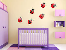 "Ladybugs Girls Nursery Room Vinyl Wall Decal Graphics 30""x21"" Bedroom Decor"