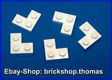 Lego 5 x Eckplatten Platten weiß - 2420 - Plate 2 x 2 Corner White - NEU / NEW