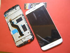 DISPLAY LCD+ TOUCH SCREEN +CORNICE COVER PER HUAWEI ASCEND G8 BIANCO FRAME VETRO