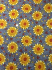 Classic Folk Art 1165 Sunflower Fabri-quilt 100% Cotton Quilting Craft fabric