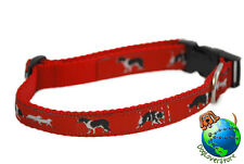Border Collie Dog Breed Adjustable Nylon Collar Medium 11-19″ Red