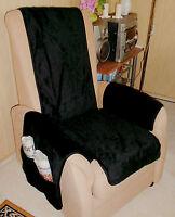 Sesselschoner Schoner Sesselauflage schwarz schön flauschig weich