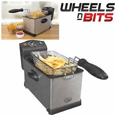 3 Litre Stainless Steel Electric Deep Fat Fryer Frying Basket Kitchen Cooker New