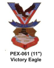 """VICTORY EAGLE Embroidered Military Extra Large Patch (11"""")"""