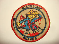 Vietnam War Patch US 7th Squadron 17th Cavalry Rgt YELLOW SCARF WHITE SNAKES