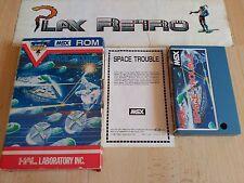 MSX HAL LAB. SPACE TROUBLE MUY BUEN ESTADO COMPLETO
