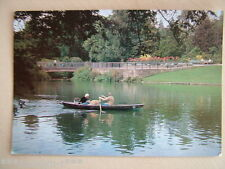 Postcard - THE BOATING LAKE, QUEENS PARK, CREWE, CHESHIRE. Unused.