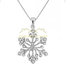 """Hot New 925 Silver Women jewelry necklace Snowflake Necklace,Pendant  18"""""""