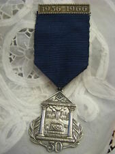 1966 PROPHET ELIJAH MASONIC LODGE No.16 SILVER TONE PRESENTATION JEWEL ISRAEL