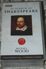 IN SERCH OF SHAKESPEARE - Michael Wood - 2 BBC VHS Videos Box Set