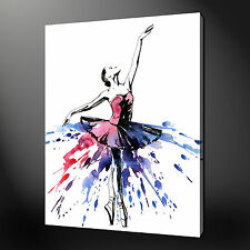 "BALLET DANCER SPLATTER MODERN DESIGN PICTURE CANVAS PRINT 20""x16"" FREE UK P&P"
