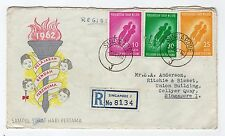 SINGAPORE: 1962 Registered First Day cover (C25315)