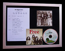 FREE All Right Now SUPERB CD QUALITY MUSIC FRAMED DISPLAY+EXPRESS GLOBAL SHIP