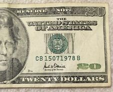 $20 Dollar Note Birthday Serial Number: 15th July 1978