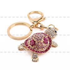 Charm Crystal Keychain Cute Tortoise Rhinestone Keyring Bag Key Ring Chain Gift