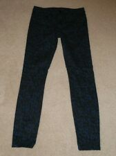 JOE'S JEANS MIDNIGHT GREEN HIGHER RISE THE SKINNY LEG STRETCH JEANS SIZE 28