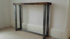 Console table rustic industrial chic wood & metal 100 cm wide