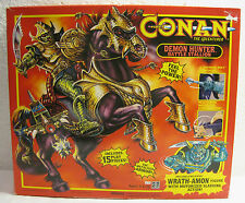 NIB 1992 CONAN The Adventurer: Demon Hunter Battle Stallion w/ Wrath-Amon Figure